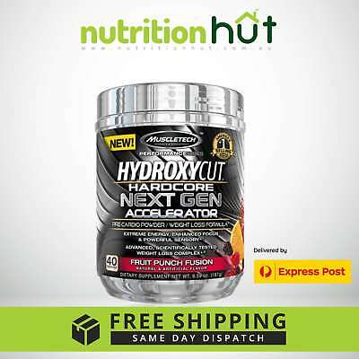 MuscleTech Hydroxycut Hardcore Next Gen Accelerator 40 Servings Fat Burner