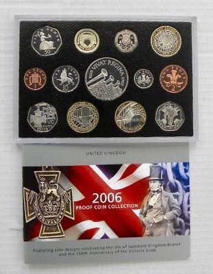 2006 ROYAL MINT PROOF 13 COIN SET Plus Deluxe Box & Booklet  1p - £5 - SN6400/1