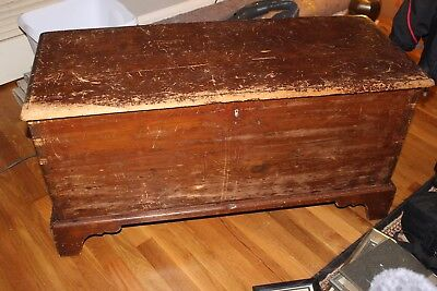 18th c. blanket chest, solid wood nice patina