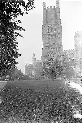 1910s ELY #3 Antique Photographic Glass Negative (Cathedral Cambridgeshire)