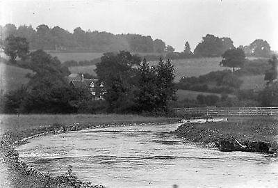 1910s CHENIES #3 River Chess Photographic Glass Negative (Buckinghamshire)