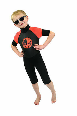 Kids 3mm shorty wetsuit. high quality suit, made with flat lock construction