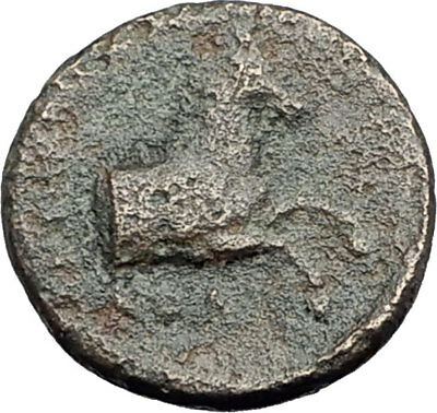 Kolophon Colophon IONIA 360BC Authentic Ancient Greek Coin APOLLO & HORSE i63153