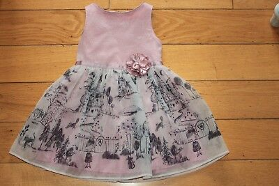 M&s Beautiful Girls Party Dress Size 2-3 Yrs