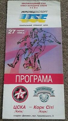 Cska Kiev V Cork City European Cup Winners' Cup 1998-99
