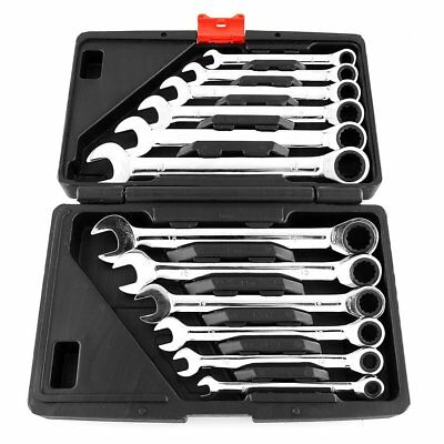 12 pcs Ratchet Wrench Mechanic Tool Car Vehicle Garage Spanner 8-19mm Tool Se SS