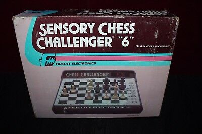 """Vintage Sensory Chess Challenger """"6"""" By Fidelity Electronics - Tested"""