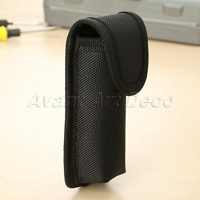 Black Sheath Knife Belt Loop Pocket Holster Pouch Case Tool Waist Holder Outdoor