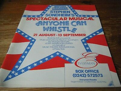 1986   Theatre  Programme  -  Anyone Can Whistle - The Everyman Cheltenham  Vgc