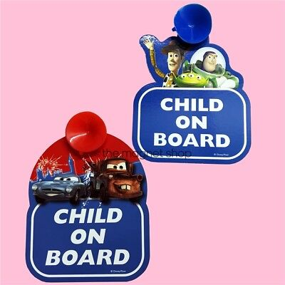 Baby Child on Board Car Signs Disney Pixar Toy Story Cars Window Sticker Sucker
