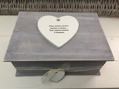 Shabby RUSTIC Chic Distressed LARGE In Memory Of A Loved One Any Name Memory Box