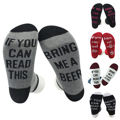 Christmas If You Can Read This Bring Me A Glass Of Wine Fashion Women Men Socks