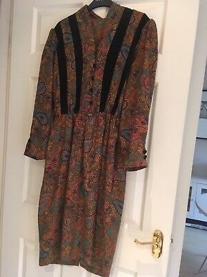 Vintage Dress Late 80s/early 90s Size UK 12-14