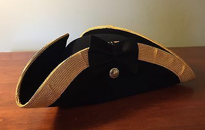 French And Indian War Military Cocked Hat Hand Made In USA