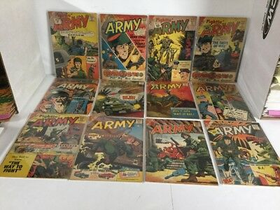 Fightin' Army 30 34 38 39-42 44-46 49 63 Lot Gd-Vg 2.0-4.0 Silver Age