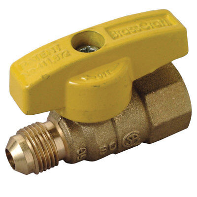 Brasscraft  Magne Flo  3/8 in. Dia. x 1/2 in. Dia. Brass  Gas Valve  5 psi