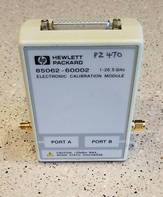 HP 85062-60002 Electronic Calibration Module 1-26.5 GHz  **FREE SHIPPING USA**