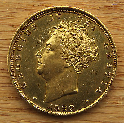 1829 Sovereign George IV (1816-1837) EF or better