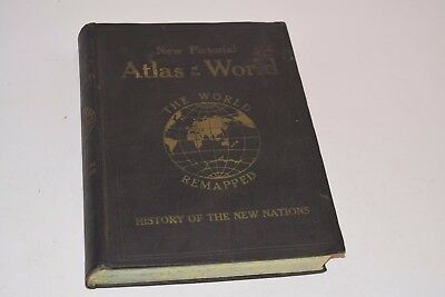 """Vintage 1921 """"New Pictorial Atlas of the World"""" The World Remapped"""