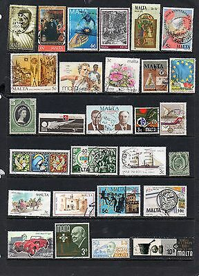 MALTA Collection of 250 different stamps.