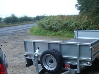 NEW NUGENT 10ft TWIN AXLE FLAT BED TRAILER C/w SIDES n S. WHEEL £2650 + VAT