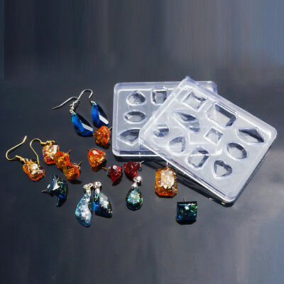 Silicone Resin Mould For Jewellery Making 10 Mixed Shape