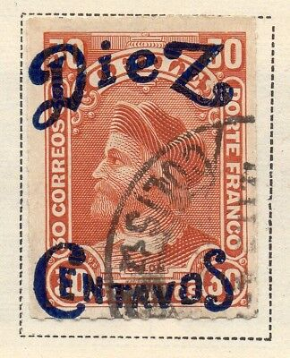 Chile 1890 Early Issue Fine Used 10c. Surcharged 170801