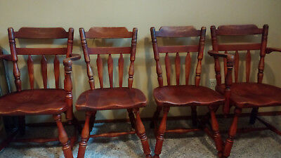 Cushman Colonial Solid Maple Dining Chairs Set Of 4
