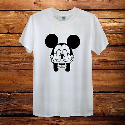 949cf2f0105 Mickey Mouse Fingers Dope Top Design T-Shirt Men Unisex Women Fitted Funny  Gift