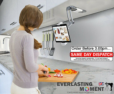 Multi Function Wall Mount iPad Tablets iPhone Stand Holder for Kitchen Office