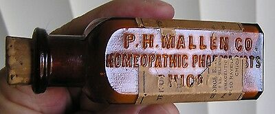 Amber P.h. Mallen Co., Homeopathic Pharmacist Chicago Part Label & Contents