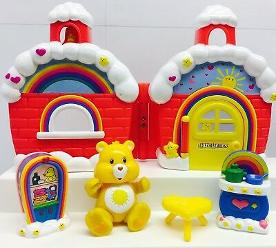 Reduced Care Bear Playset Funshine Bear House w/ Accessories & Posable  Bear lot