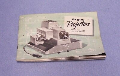 Argus 300 Projector Manual - Circa 1950's - Used