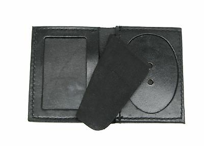 Leather Police Duty Badge Shield Wallet Holder