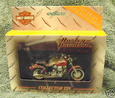 Harley Davidson Collector Tin & Playing Cards - Limited Edition