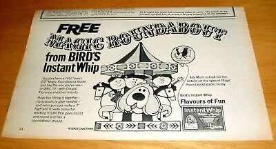 Magic Roundabout Free Press Out Model  Birds Instant Whip Stunning  Advert 1969
