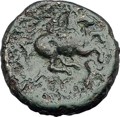 LYSIMACHOS 317BC Apollo OLYMPIC Horse of Philip II Ancient Greek Coin i63651