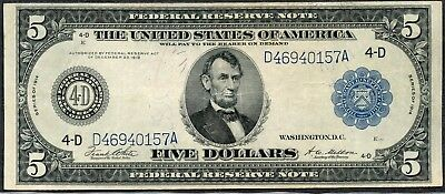 Fr 859a 1914 $5 Cleveland FRN Ungraded