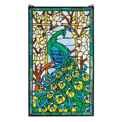 Design Toscano Design Toscano HD715 Peacock's Paradise Stained Glass Window