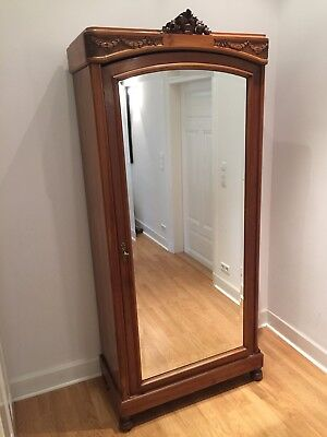 French Armoire with very large mirrored door