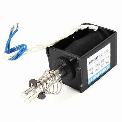 RM-1683 DC 12V Pull Type Sring Loaded Solenoid Electromagnet 20 x 16 x 16mm 8Kg
