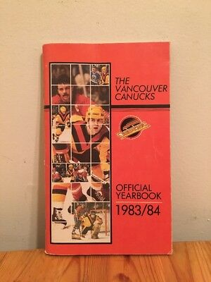 Vancouver Canucks Official Yearbook 1983/1984