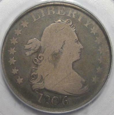 = 1806 PCGS G6 BUST Quarter, HERALDIC EAGLE Reverse, FREE Shipping