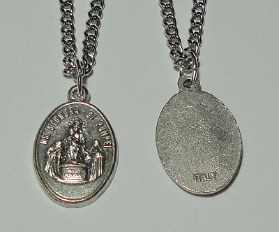 """Our Lady of Pompeii Holy Medal & 24"""" Chain - Renewal of Faith & Catholic Church"""