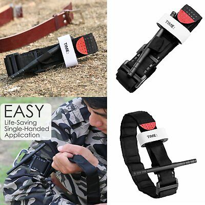 Utility Black Emergency Injury First Aid Medical Tool Tourniquet Buckle Strap