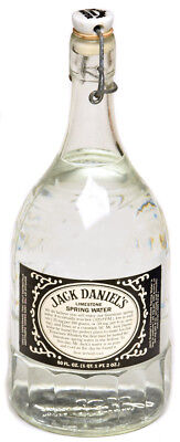 Jack Daniels Limestone Spring Water Bottle Glass Decanter Whiskey Bourbon Jug