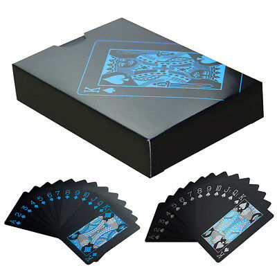 Luxury Waterproof Poker Black Plastic PVC Playing Cards Set Table Board Game