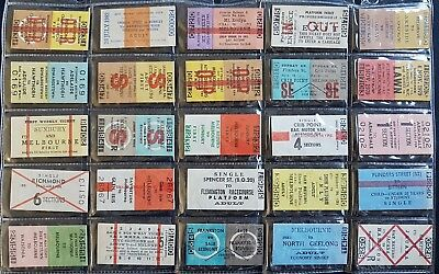 Victorian Railways Train Tickets (Lot C) - assortment lot of 25 tickets