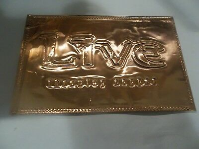 "LIVE ""Throwing Copper"" RARE Copper Embossed Promo Only Postcard"