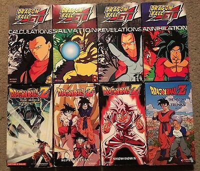 Dragon Ball Z GT Vhs Lot 8 Super Saiyan Trunks Vegeta Goku Krillin Frieza Gohan